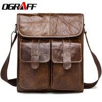OGRAFF Men Messenger Bags Men Leather Shoulder Bags Genuine Leather Men S Briefcase Designer Handbags High