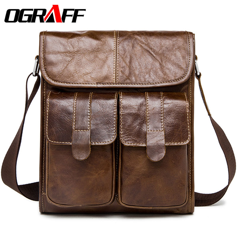 OGRAFF Men messenger bags men leather shoulder bags genuine leather men's briefcase designer handbags high quality crossbody bag ograff bag men genuine leather men messenger bags handbags famous brand designer briefcases leather crossbody bags men handbag
