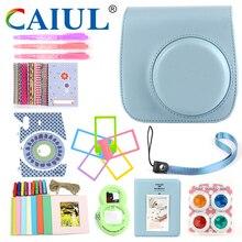 Caiul (10 in 1 )Shoulder Soft Camera case&Accessories For Fujifilm Instax Mini8/Mini8+/mini9 with Retro pattern
