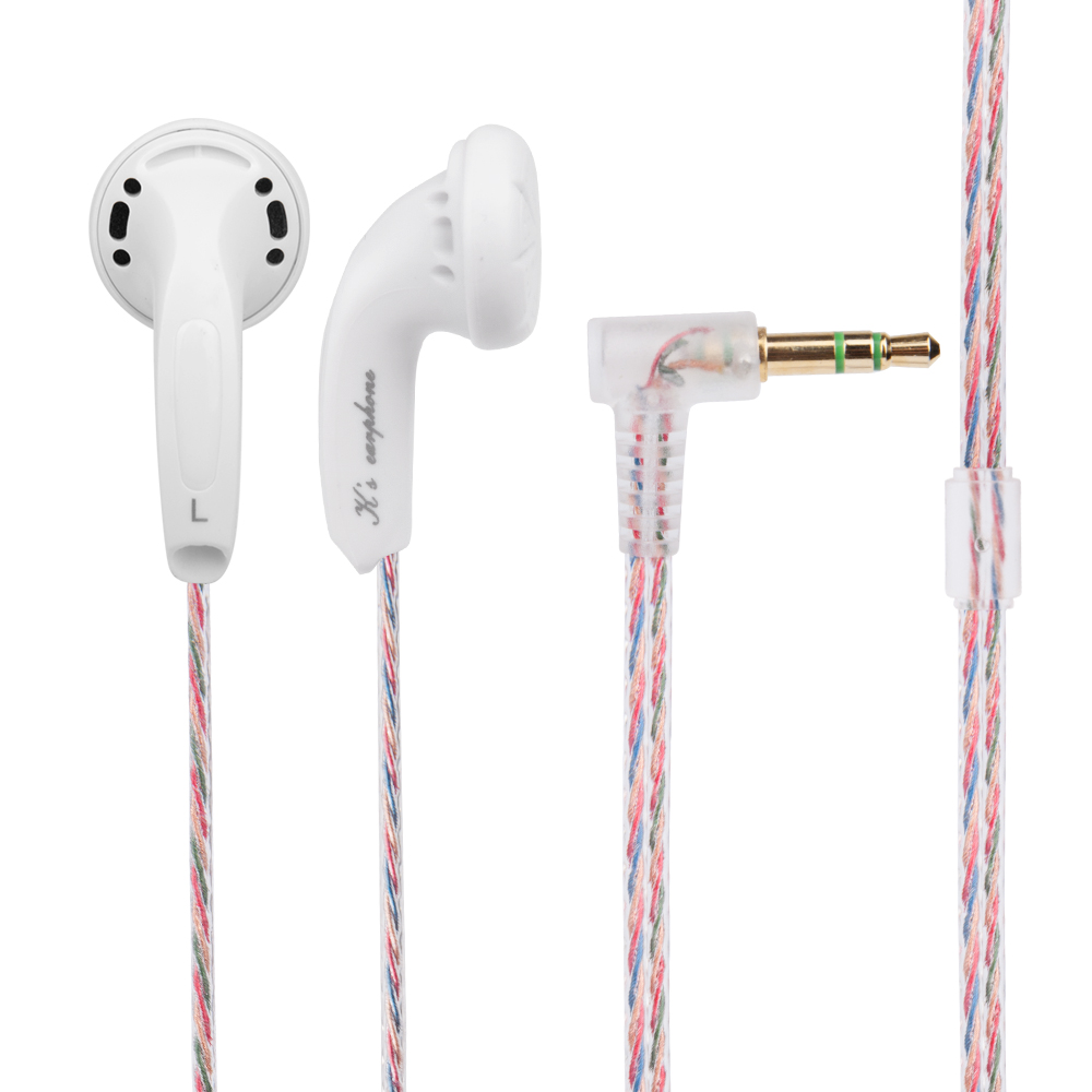 Wooeasy New K's Earphone 32ohm High Impedance In Ear Earphone Earbud 32 ohm Earbud Flat Head Plug Earplugs Kill Monk Earbud
