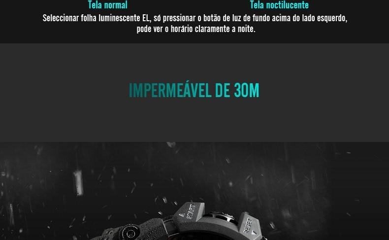 Relógio de Calorias Pedômetro Digital Barômetro Bússola