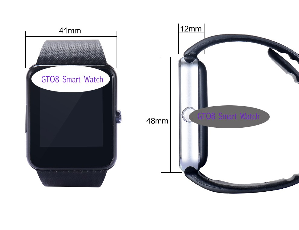 Cheap price GT08 Bluetooth Smart watch Touch screen smart watches support SIM Ca