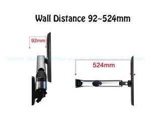 Image 4 - NB F500 sprężyna gazowa 50 60 cali telewizor LED uchwyt monitora ściennego ergonomiczny montaż ładowanie 14 23kg Max.VESA 400*400mm