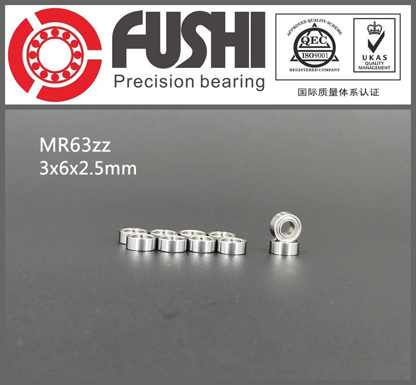 MR63ZZ Bearing ABEC-1 (10PCS) 3*6*2.5 mm Miniature MR63 ZZ Ball Bearings L630ZZ MR63Z 6903zz bearing abec 1 10pcs 17x30x7 mm thin section 6903 zz ball bearings 6903z 61903 z