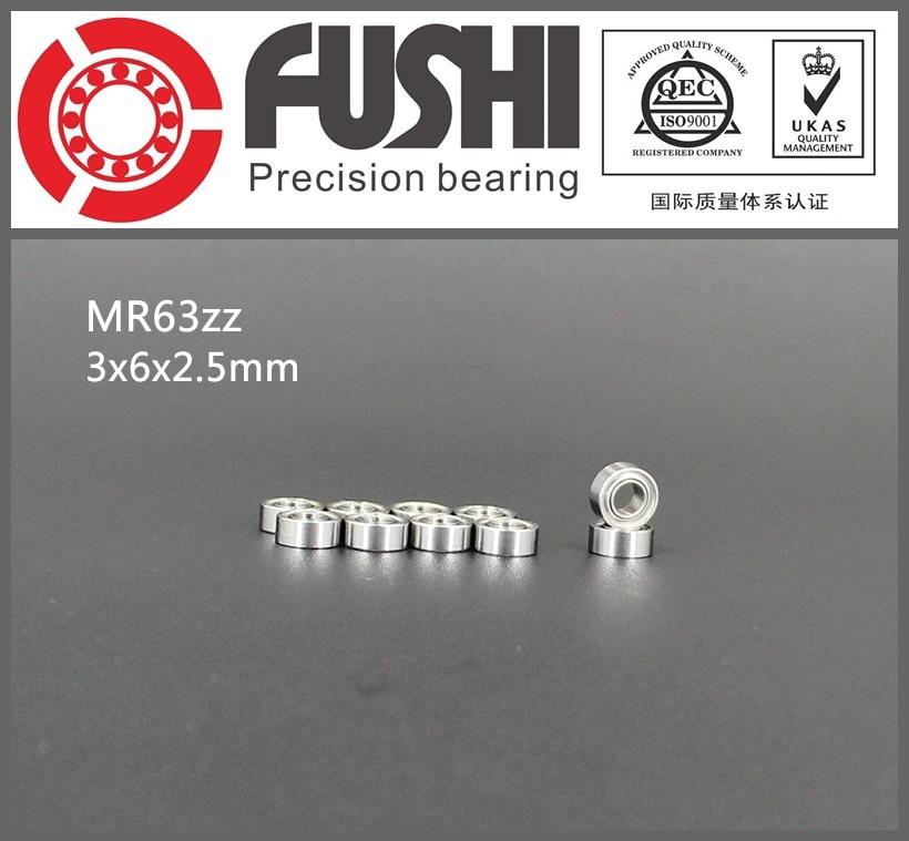 MR63ZZ Bearing ABEC-1 (10PCS) 3*6*2.5 mm Miniature MR63 ZZ Ball Bearings L630ZZ MR63Z 1pcs 71901 71901cd p4 7901 12x24x6 mochu thin walled miniature angular contact bearings speed spindle bearings cnc abec 7