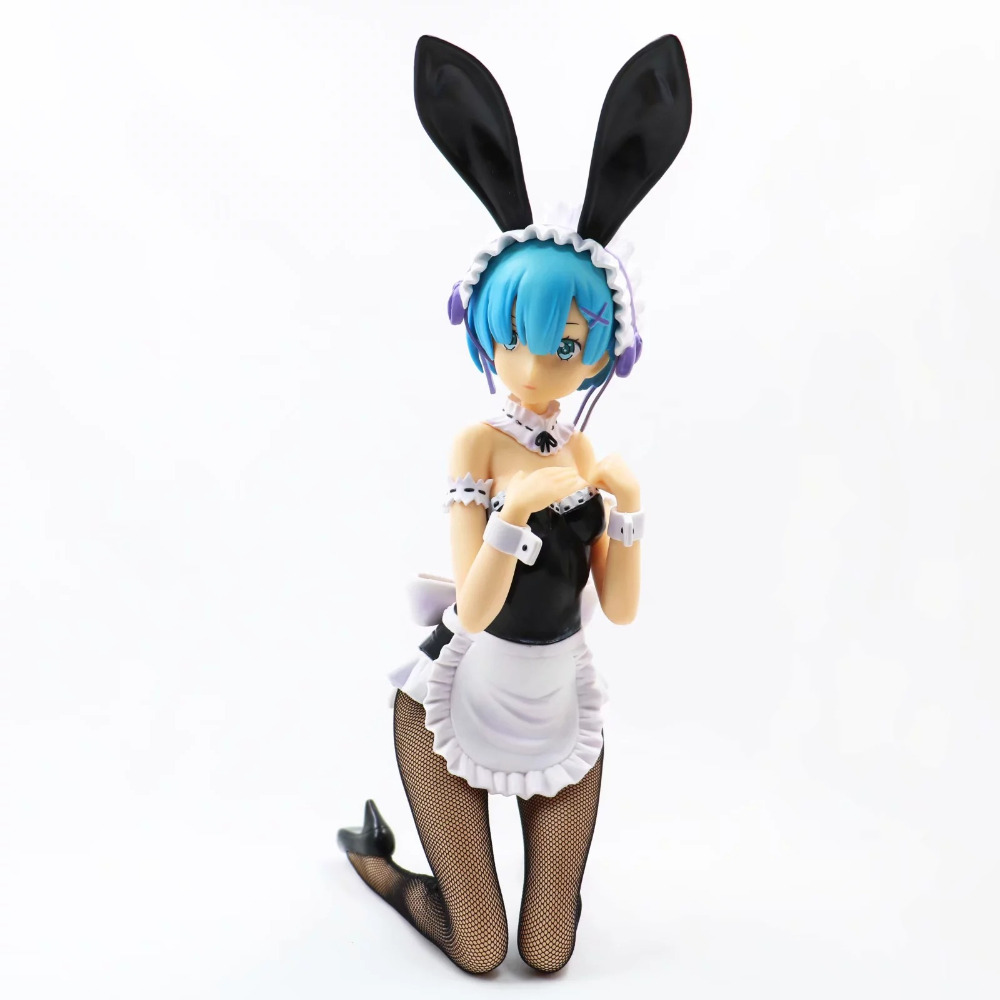 Anime Re:Life in a different world from zero Rem Bunny Ver. 1/4 Scale PVC Action Figure Collectible Model Toys Doll 28cm re life in a different world from zero maid ram with mop on the floor pvc figure collectible model toy 22cm kt4218