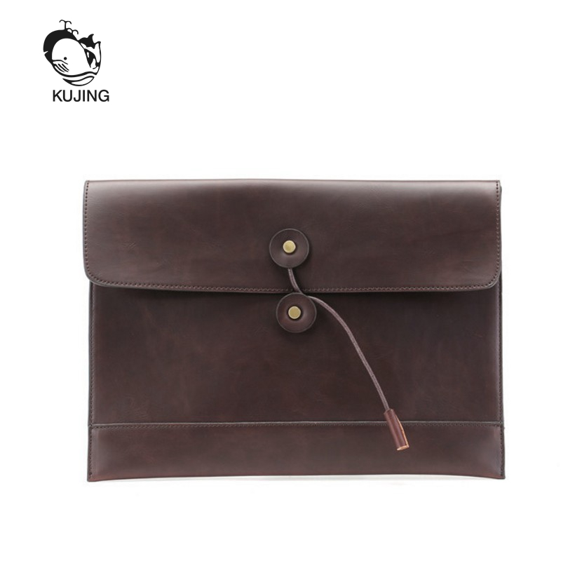 KUJING Men And Women Briefcase High-end Hot Hands Holding Envelope Bag Men Retro Business File Bag Luxury Men Leisure Briefcase