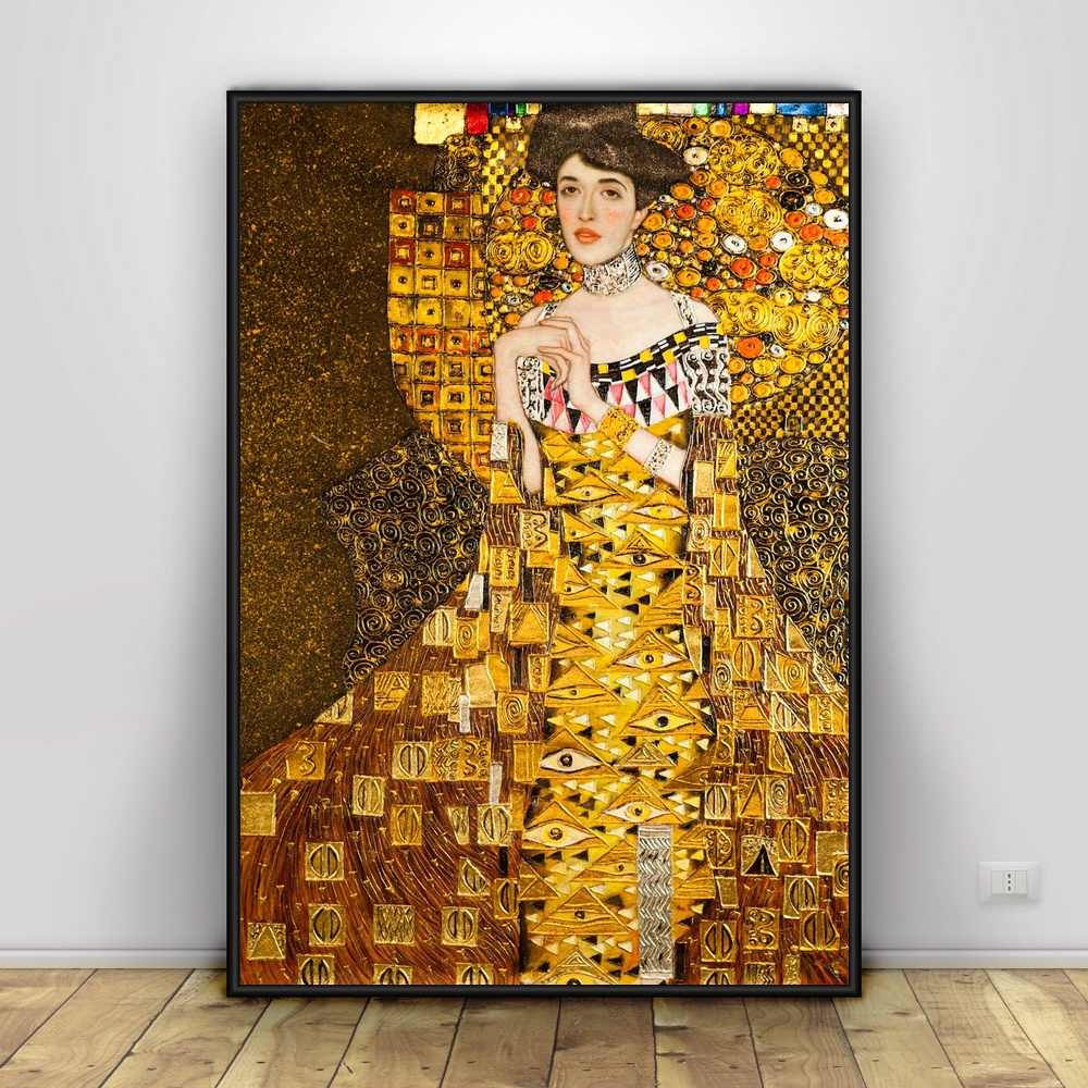 グスタフ · クリムトキャンバスプリント絵画レトロ有名なポスター現代家の装飾hd印刷ウォールアート非フレーム画像リビングルームのための