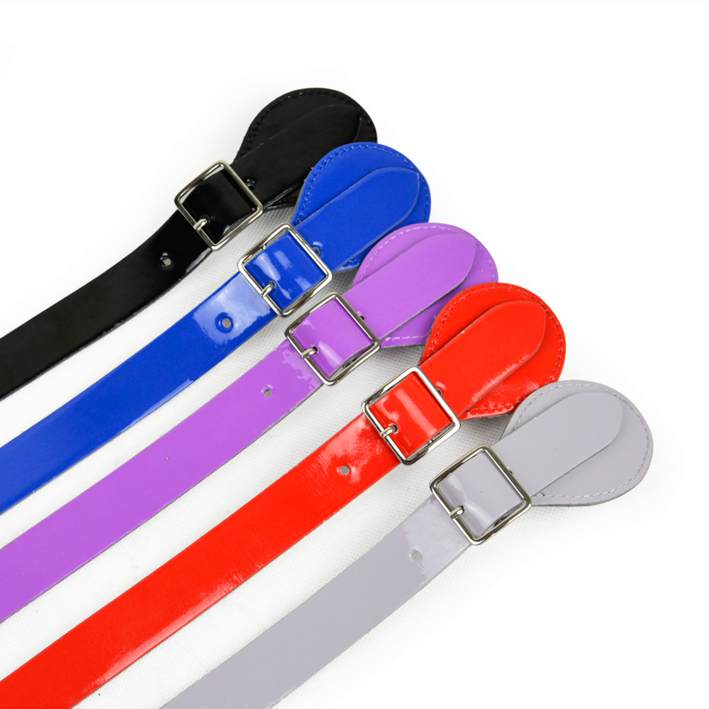 New 3 Color Lacquer Long Short Flat Handle for Obag Adjustable Leather Handles with Drop Buckle