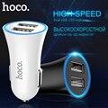 HOCO Автомобильное Зарядное Устройство 2 USB порт для iPhone iPad Samsung Xiaomi Зарядка для Мобильного Телефона в Авто Зарядное в Машину 2.4А Универсальная ...