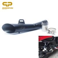 Moto YZF R6 Akrapovi D'échappement Silencieux Pince 52 MM Laser H.P Echappement Moto Échapper Tuyau D'échappement Pour GY6-125 CB400 ER-6N