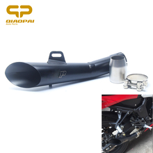 Motorcycle YZF R6 Akrapovi Exhaust Muffler Clamp 52MM Laser H.P Echappement Moto Escape Exhaust Pipe For GY6-125 CB400 ER-6N цена