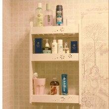 Bathroom wall rack multi function No drilling hooks are required Wall shelf toilet bathroom waterproof shelf