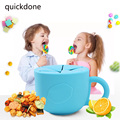 Baby 360 Rotate Spill-Proof Bowl Dishes Infants Kid Tableware Snack Bowls Food Container Feeding Children Dish With Handle T0407