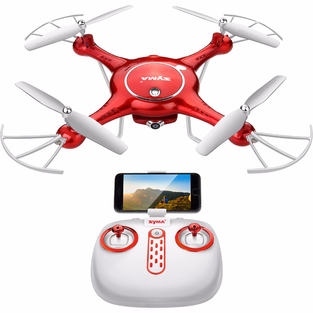 SYMA X5UW RC Drone HD Wifi FPV Real Time Transmit Camera Dron Controller Helicopter Aircraft Quadcopter Drones Hover Function