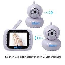 2 Камеры видео baby monitor 3.5 Дистанционного Управления Детские Камеры Телефона bebe Ребенок Монитор Беспроводной Видео Домофон Радио Няня