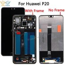 Huawei 社 P20 Lcd ディスプレイ + タッチスクリーンデジタイザアセンブリの交換 Huawei 社 EML L09 EML L22 EML L29 EML AL00 液晶画面