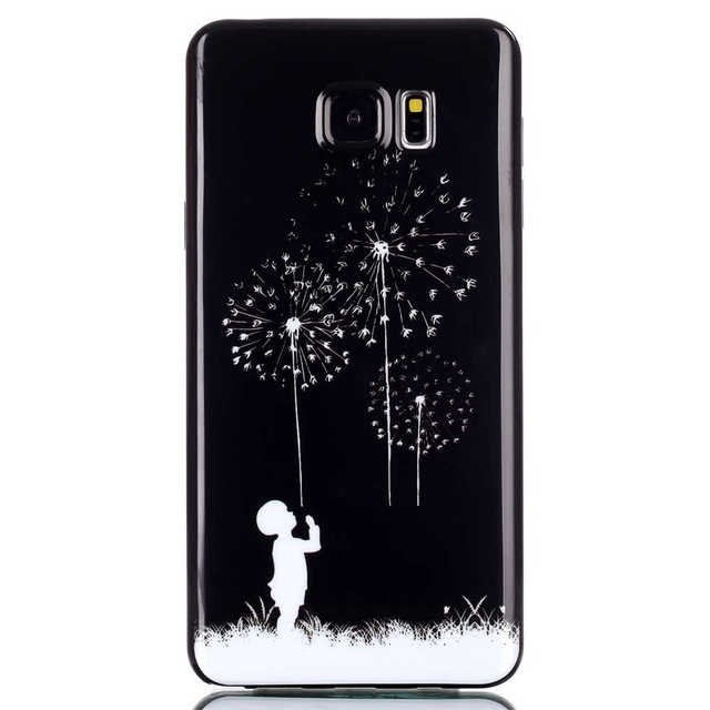 Cute Cartoon Print Phone Covers For SAMSUNG Galaxy Note5 Note 5 SM-N920F N920H SM-N920I Duos SM-N920C Soft TPU Silicon Cases