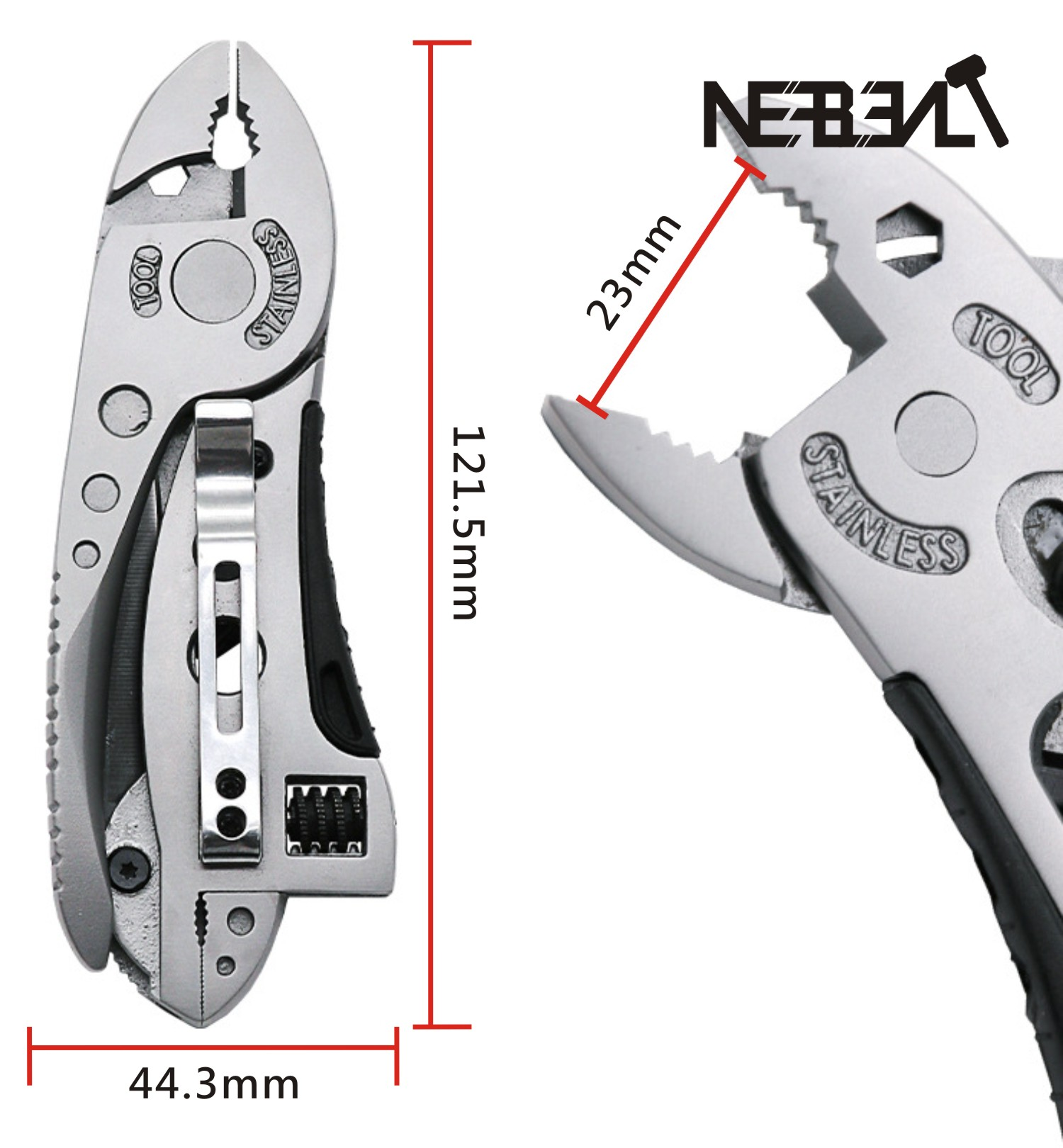 Outdoor Multitool Pliers Pocket Knife Screwdriver Set Kit Adjustable Wrench Jaw Spanner Mini Repair Hand Tools Pocket Portable