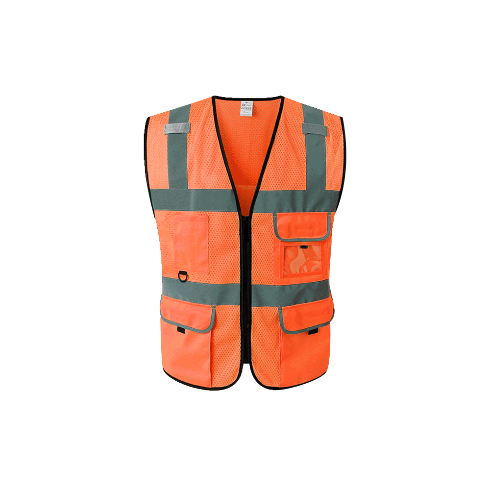High Visibility Reflective Safety Vest Reflective Vest Multi Pockets Workwear Safety Waistcoat(China)