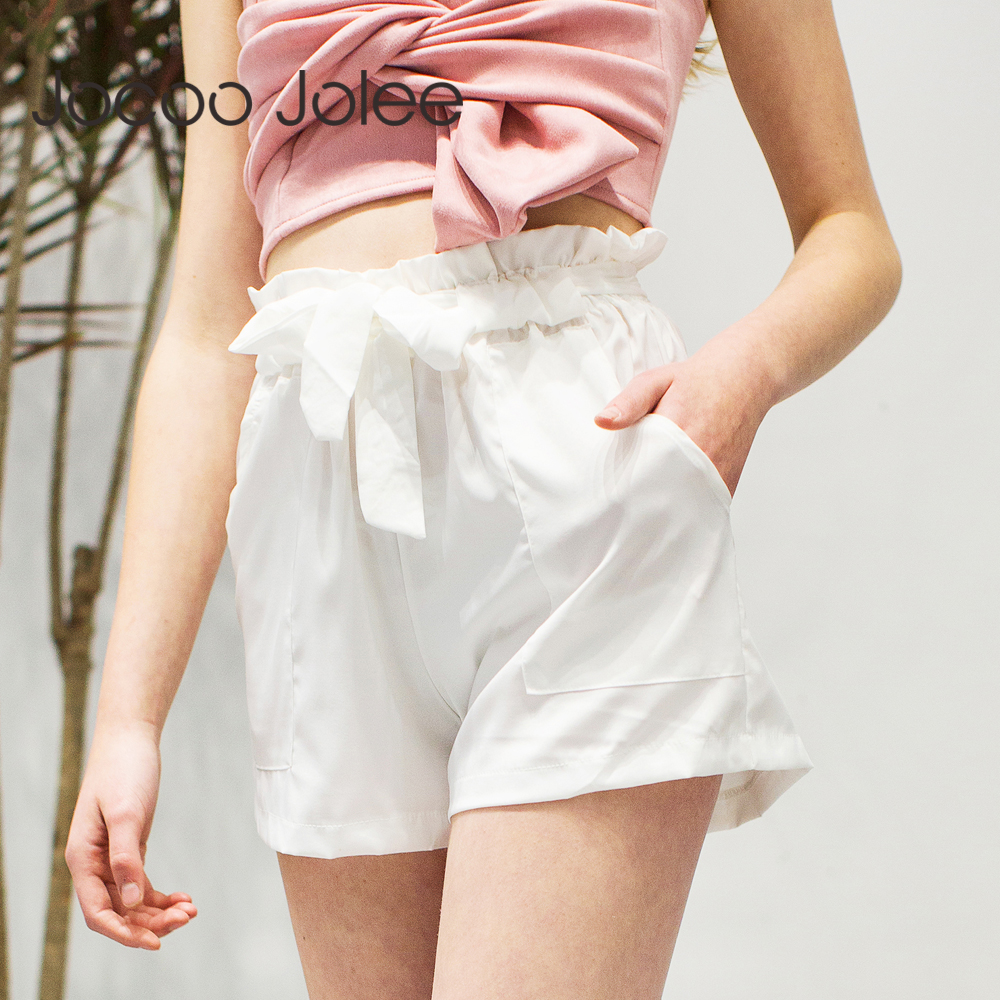 Jocoo Jolee Women Casual Design High Waist Loose Shorts Drawstring Bow Design Sashes Short Pants 2018 Spring New Street wearing