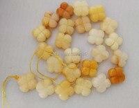 Свободные шарики желтый нефриты резные цветок 16*6 мм для изготовления ювелирных изделий ожерелье 14 inch fppj оптовая продажа