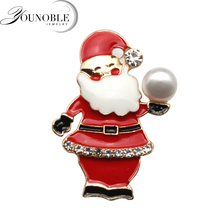 Beautiful Natural freshwater pearl brooch woman,Female Christmas santa claus with new year gift