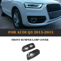 ABS Front Fog Light Covers Lamp Honeycomb Masks Trim Lower Grill For Audi Q3 Standard Only