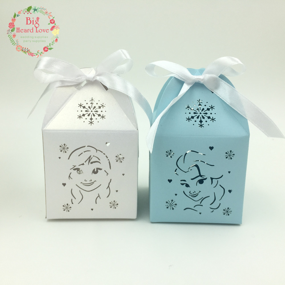 Big Heard Love 10pcs Elsa and Anna Wedding Favor Box Candy Box Party ...