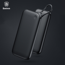 Baseus 20000 mAh 5V3A Charge Rapide 3.0 USB Power Bank Pour iPhone X 8 7 6 Samsung S8 Note 8 Chargeur de Batterie Externe Powerbank