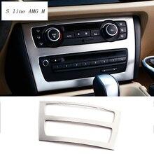 Стайлинга автомобилей интерьера отделкой кондиционер CD панель управления Декоративные Наклейки Обложка для BMW E84 X1 2010-2015 авто аксессуары
