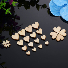Set of 200 Wooden Heart Shaped Confetti for Baby Showers and Parties