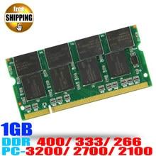 Laptop Geheugen Ram SO-DIMM DDR1 PC 3200 2700 2100/DDR 400 333 266 MHz 1 GB 200 PINS Voor Notebook Sodimm Memoria Rams
