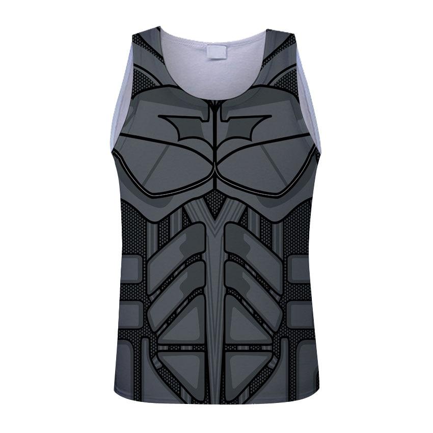 Impression style men 3d vest printing spider-man/Spider-man/captain America summer cool slim   tank     tops   tees Asia size