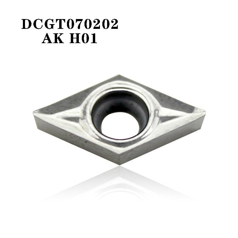 10* DCGT11T308-AK H01 DCGT32.52-AK CNC Aluminum blade Carbide Inserts  Aluminum