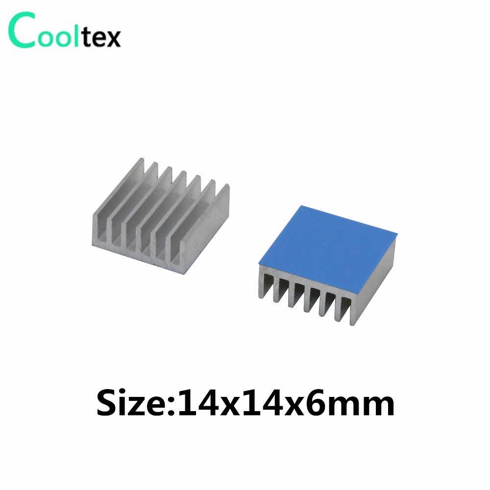 アルミニウム製ヒートシンクラジエーターヒートシンク冷却電子チップ IC 3D プリンタラズベリーパイ熱伝導性テープで