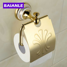 Free shipping ceramics brass wall-mounted paper holder bathroom accessories product toilet paper holder стоимость