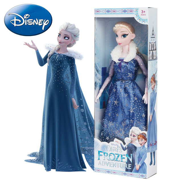 28CM Anna Elsa Kids Plush Toys 2019 New Frozen Snow Queen Princess Doll Girls Toy Cartoon Stuffed Dressing Kids Christmas Gift