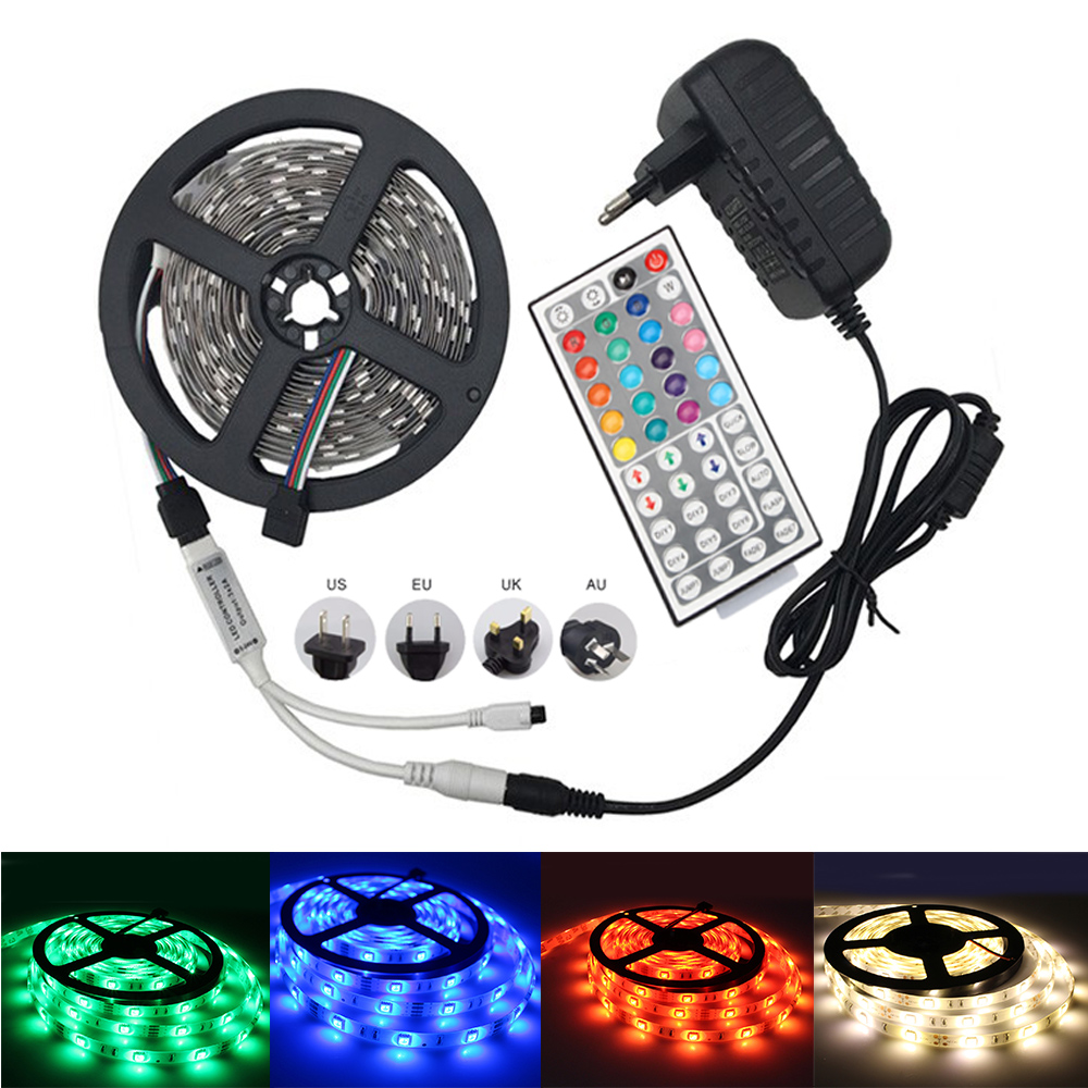 5M 5050 Lampu LED Kalis Air Jalur Lampu LED 150LEDs RGB White Warm - Pencahayaan LED