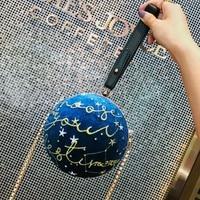 Circular bags Ins Stylish planet velvet star ball package small round bag personality Cute handbags shoulder bag