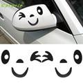 Tiptop NUEVA 4 Colores Cara de la Sonrisa Diseño 3D Decoración Pegatinas Para El Coche Espejo Lateral Retrovisor Envío Libre L607