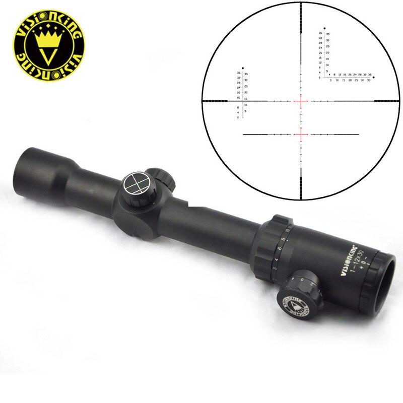 Visionking 1 12x30 Military Sniper Riflescopes Long Range Hunting Aim Rifle Scope ar15 m4 Ak Optical