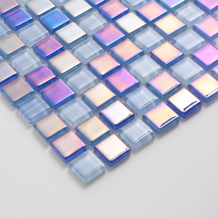 Symphony glass mosaic blue color for swimming pool bathroom mosaic ...