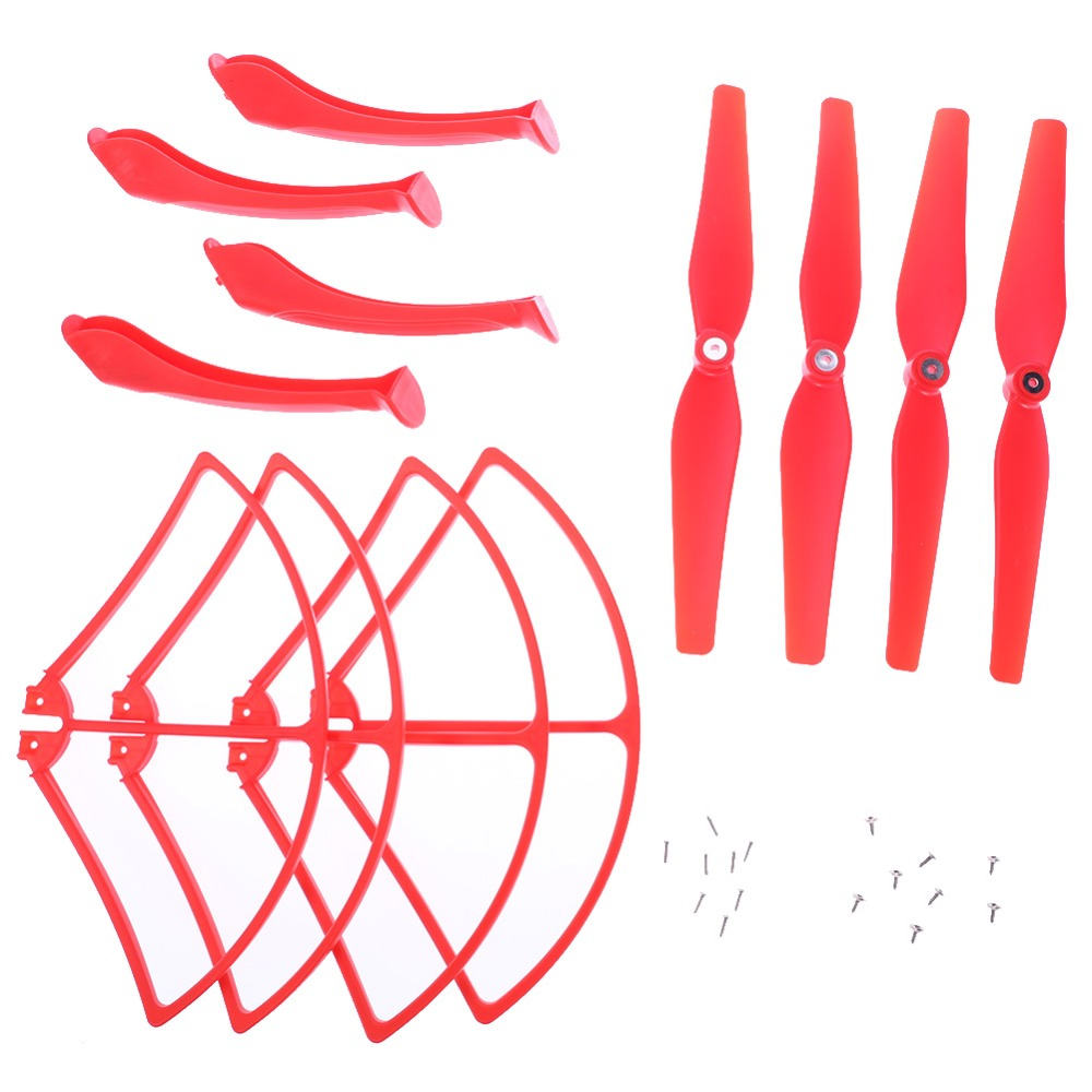 RC Drone Spare Parts Set 4 x Propeller + 4 x Landing Gear + 4xProtect Ring for Syma X8C/W/G