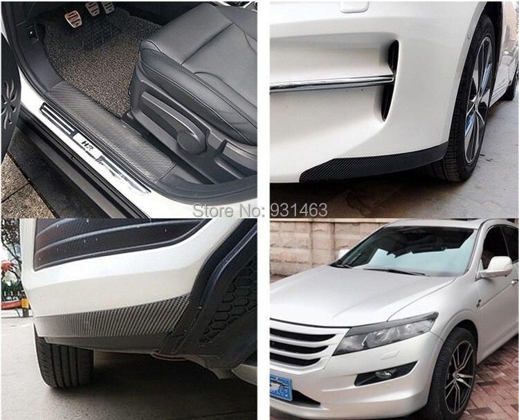 US $6 76 21% OFF|Door Bumper Film Protector Car Stickers 5D Carbon Fiber  Vinyl Trim car Trunk Grill Protector Decal For General purpose vehicle-in  Car