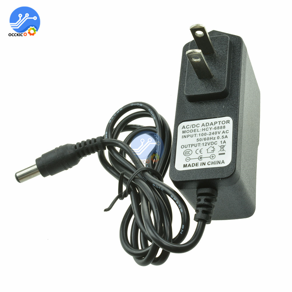 100-240V AC to DC Power Adapter Charger Adapter 5V 9V 12V 1A US Plug 5.5X2.1MM DC Plug For LED Driver Strip Lamp