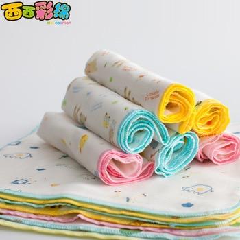 New 5PCS 30*30cm 100% Cotton Cartoon Waterproof Baby Bibs 4 Layers Soft Newborn Kid Feeding Baby Saliva Towel For 0-24 Months