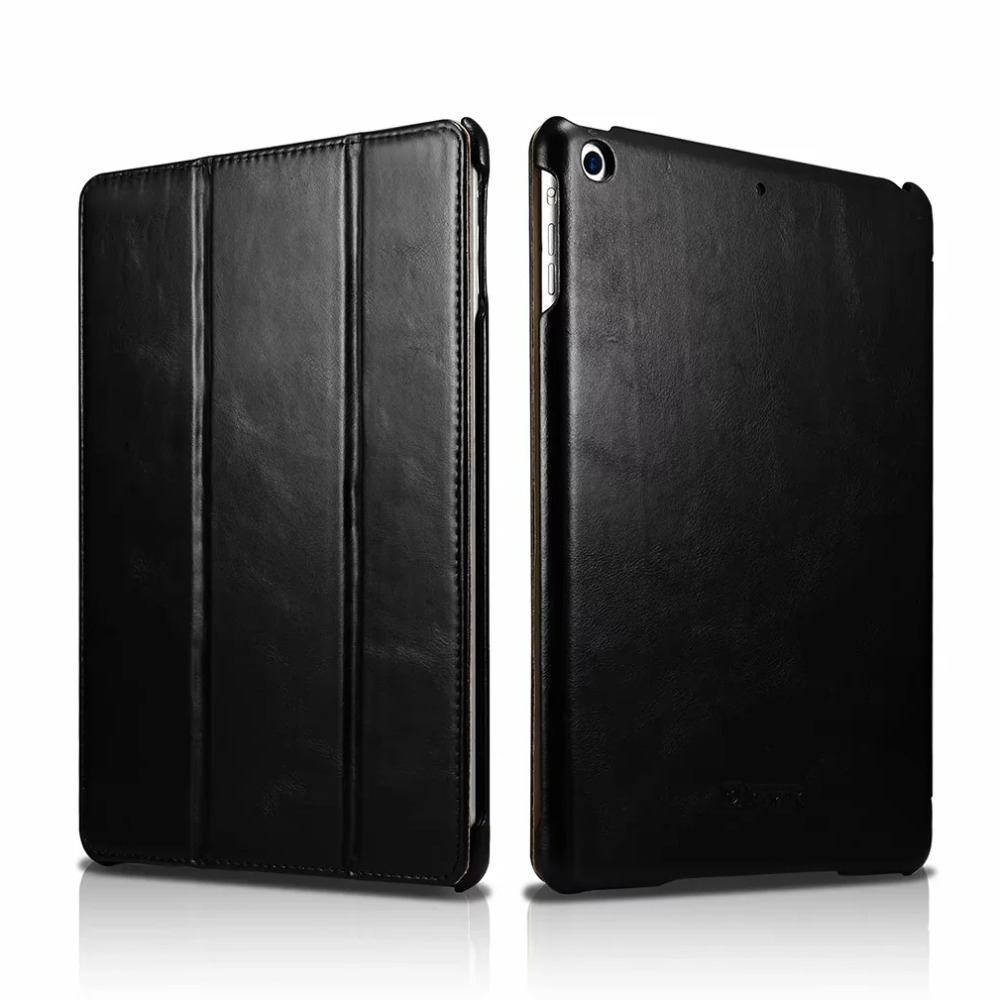 Icarer New Business Retro Leather Case for For iPad 9 7 2017 High Quality Vintage Genuine