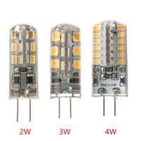 100 יח'\חבילה G4 אור LED 2 W/3 W/4 W DC12V/AC220V לבן לבן/קר חם לבן 360 קרן זווית Mnin סיליקון נברשת מנורת משלוח חינם