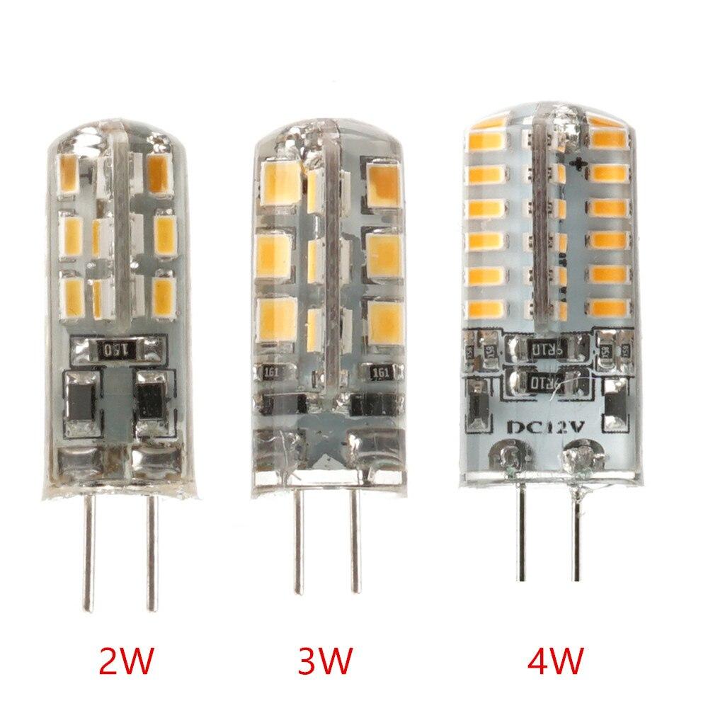 100 pcs/lot G4 lumière LED 2 W/3 W/4 W DC12V/AC220V blanc chaud/blanc froid 360 Angle de faisceau Mnin lustre lampe en Silicone livraison gratuite